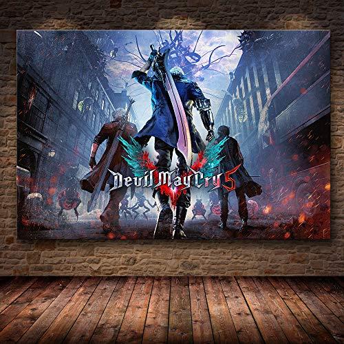 mmzki Juego en línea 3D Decoración de póster Pintura en Lienzo de HD Pintura de Lienzo Imagen de Juego de póster de Arte