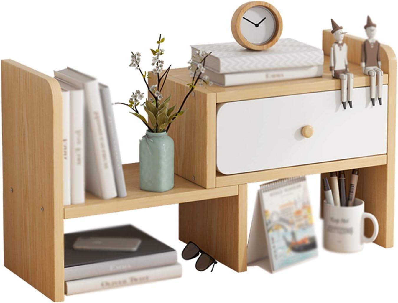 XJJUN Bookshelves Desktop Racks Storage Office Desk Max 50% Indianapolis Mall OFF Mul
