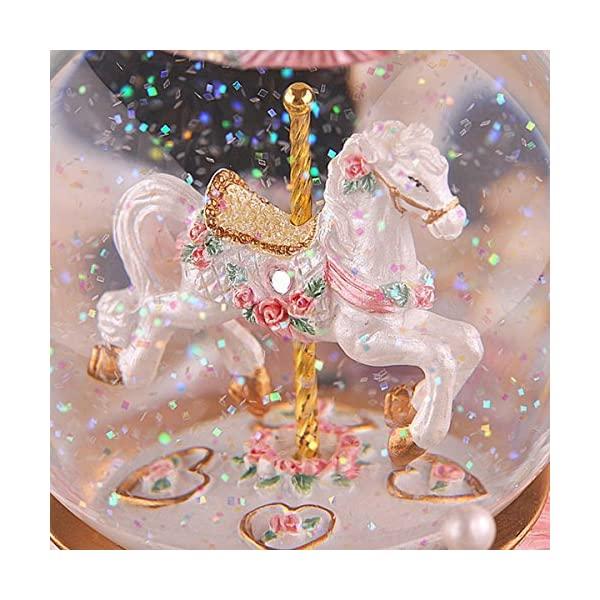 Luxury Carousel Music Box Crystal Ball Music Box with Castle in the Sky Tune Creative Home Decor Ornament Gifts Perfect… 7