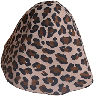 Leopard Capeline Womens Wool Felt Hat Base Cone Cloche Hood Millinery Craft B088