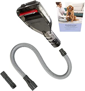 Kodahome Pet Shedding Brush Kit, Deshedding Tool Compatible with Most Vacuum Cleaners as Vacuum Attachment, Cat and Dog Ha...