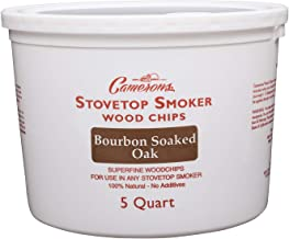 Smoking Chips – (Bourbon Soaked Oak) Kiln Dried, 100% Natural Extra Fine Wood Smoker Sawdust Shavings – 5 Quart Barbecue Chips