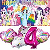 My Little Pony 4th Party Supplies   For Girls   Fourth   Fourth   Decorations   Birthday   Banner   Backdrop   Balloons   Favors