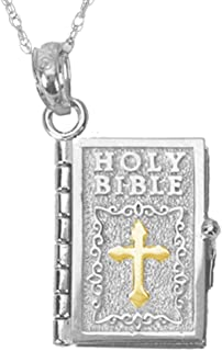 gold cross necklace with lord's prayer inside