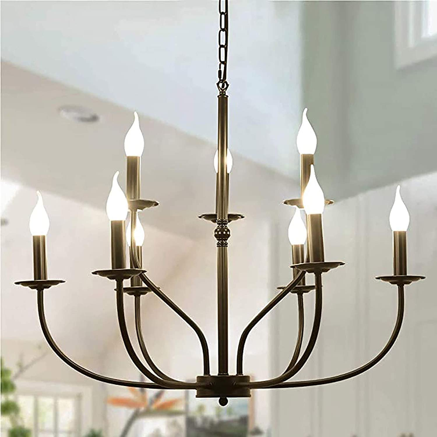 QTQHOME Farmhouse Time sale Metal Chandelier Sales of SALE items from new works 6-Light Industrial Rustic Pen