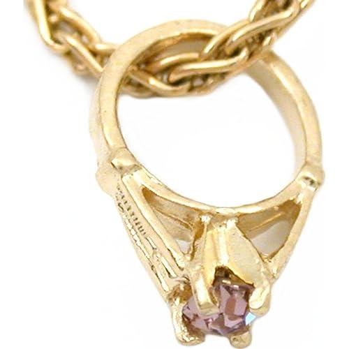 1ff0cf07c 14K Yellow Gold June Birthstone Baby Ring Charm