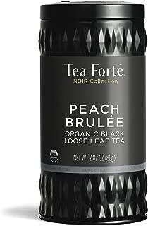 Tea Forte Black Tea, Peach Brulee, Loose Tea Canister