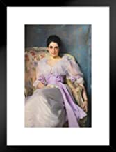 John Singer Sargent Lady Agnew of Lochnaw Portrait Painting Art Art Print Framed Matted in Black Wood 20x26 inch Black 261635