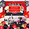 70 Pieces Casino Party Decoration Supplies Set, Include Casino Theme Birthday Backdrop, 4 Poker Suit Foil Balloons and 65 Latex Balloons for Las Vegas Casino Theme Party Casino Night Poker Events #1