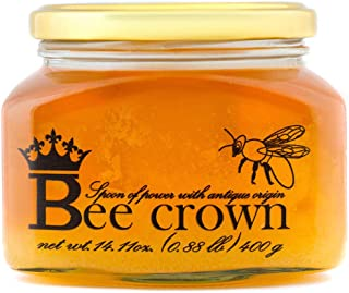 Raw bee honey,pure,natural,unpasteurized,unfiltered, in glass jar,14OZ,(400 g.)