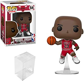 Funko POP Basketball: NBA Chicago Bulls Michael Jordan Vinyl Figure Bundle with 1 PopShield Pop Box Protector