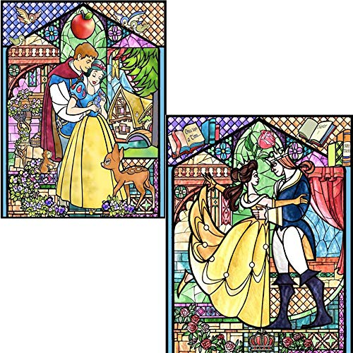 """DIY 5D Diamond Painting Kit, 2 Pack 16""""X12"""" Snow White Belle and Prince Round Full Drill Crystal Rhinestone Embroidery Cross Stitch Arts Craft Canvas for Home Wall Decor Adults and Kids"""