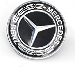 Ruanye for Mercedes Benz C E SL GLS Class Ornament Logo Black Flat Hood Badge Emblem W205 W204 W212 W221 C208 W238; 0008171701 ;57MM (000-817-17-01 -Black)