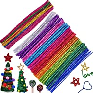 Pipe Cleaners Chenille Stems for DIY Art Craft 6 mm x 12 Inch 100 Pieces