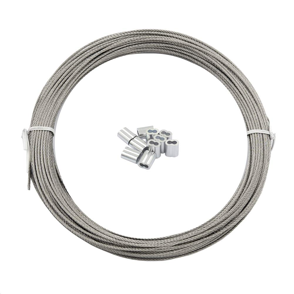 DGOL 100 feet 1 16 inch cheap 1.5 Cable Stainless 304 Steel Reservation Wire mm