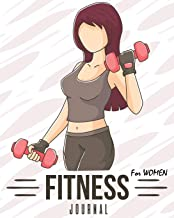 Fitness Journal for Women: Exercise Log Book With Food Journal: Record Your Fitness Workouts & Measurement Body (fitness log book)