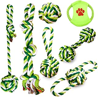 PEHOST Puppy Chew Rope Dog Toys Interactive and Boredom Cotton Natural Teeth Cleaning for Small Pet Dental Teething