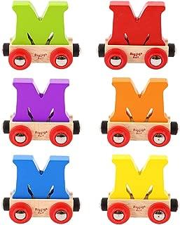 Bigjigs Rail Rail Name Letter M (Colors Vary)
