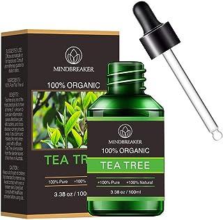 Huile essentielle d'arbre à thé biologique, huiles parfumées d'aromathérapie biologique 100% huile essentielle thérapeutiq...