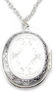 Gleader Collar Colgante Oval Medallon Relicario Poner Fotos