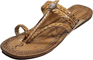 KALAPURI Authentic Pure Vegetable Tanned Leather with Broad Braids/Veni Upper and Leather stictching Traditional Hand Punc...