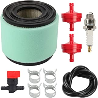 Mannial 393957 Air Filter with 271794 Pre Filter fit Briggs & Stratton 393957S 390930 4106 7-18 HP Horizontal Engine Lawn Tractor Mower John Deere PT9334 LG393957 PT4301