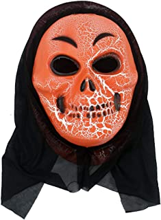 yuhqc Halloween Horror Grimace Ghost Mask Full Face Ghost Hoods Balaclava Costume Headwear Tactical Hood for Cosplay Party Halloween Cycling Skiing Hunting