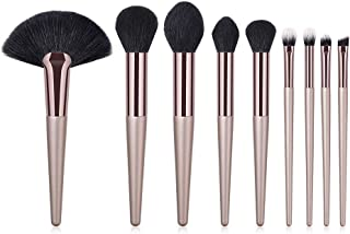 XUANOU 9PCS Wooden Cosmetic Makeup Brush Brushes Foundation Powder Eyeshadow Brush Set
