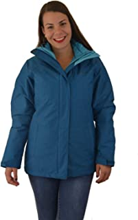 Columbia Women's Nordic Point III Waterproof Interchange Winter Omni Heat Jacket (Lagoon, XL)