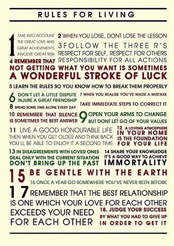 Dalai Lama Regeln #18 für Leben Motivation Inspiration Sein Happy Sein Stark Zitat Plakat Bild Bestimmung Schlafzimmer Kunstwerk Wand Dekoration Nachdruck