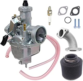 VM22 26m Carburetor with Air Filter for Mikuni Intake Pipe Pit Dirt Bike Motorcycle 110cc 125cc 140cc Lifan YX Zongshen Pit Dirt Bike CRF70 XR50 KLX BBR Apollo Thumpstar Braaap Atomic DHZ SSR