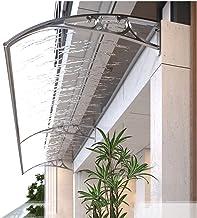 MaHFEI Luifel voor huisdeur, lessenaarsluifel, overkapping, voor-/achterdeur-veranda-baldakijn, polycarbonaat, regenbesche...