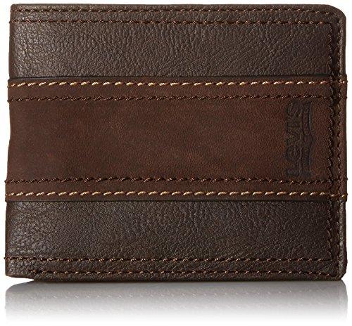 Levi's Men's Traveler Wallet,Brown Stripe