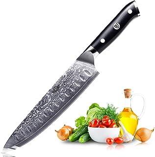 Kitchen Emperor Cuchillo de Cocina, Cuchillos Damasco, Cuchillos Cocina Profesional de Acero de Damasco 67 Capas con la Manija G10