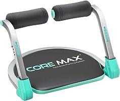 Core MAX Máquina para Abdominales, Alfombrilla para Yoga, Negro
