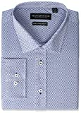 Nick Graham Men's Wall Street Spread Collar Dress Shirt, Navy, 14-14.5' Neck / 34-35' Sleeve