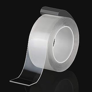 EMAILYA RETAILS Double Sided Tape Heavy Duty Transparent Traceless Nano Washable Adhesive Tape Reusable Anti-Slip Heavy Du...