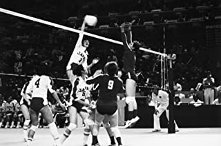 Olympics Volleyball 1976 Nthe Japanese WomenS Volleyball Team During A Match At The Summer Olympics In Montreal Canada Pho...