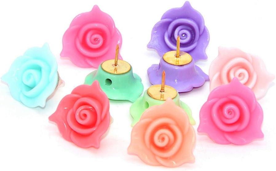 10 Pcs Creative Office Max 73% Sale price OFF Decorative Colorful Thumbtacks Pus Floret
