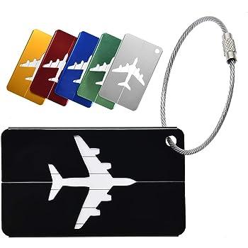 Etiquetas de Equipaje para identificadores de Maletas Etiquetas de Equipaje para Maletas Personalizadas Etiquetas de Viaje de Cuero para Equipaje Paquete de 2 Caqui