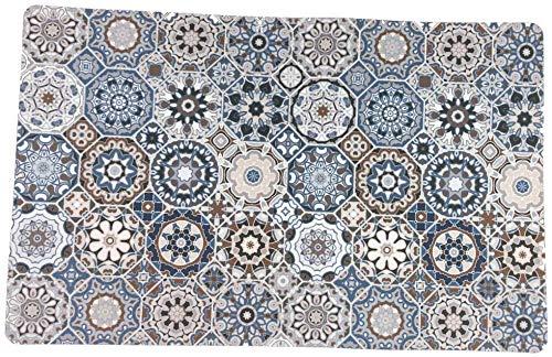 De'Carpet Alfombra para Mascotas ROEDOR Jaula Aislante Absorbente Lavable SIN Olor Hexagonal (40x60cm)