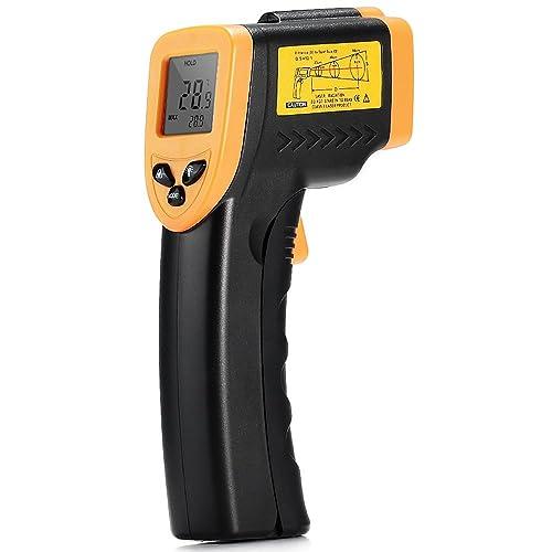 Thermometre Infrarouge Laser Sans Contact avec Précision Piles Fournies LCD Ecran Rétroéclairé pour Eau Air Conditionné Cuisine Equipement Maison et l'Industrie.(-50 ~ 380 ℃ /-58 ~ 716 ℉)(Offrir la notice en français PDF)