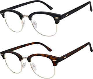 READING GLASSES Set of 2 Fashion Style Readers Quality Glasses for Reading for Men and Women