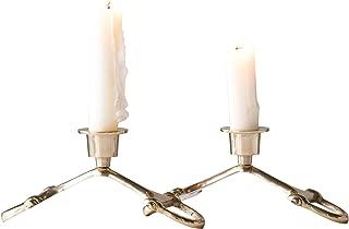 Creative Co-Op Brass Horse Bit Candle Holder