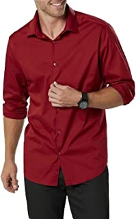 Structure Men's Poplin Modern Fit Dress Shirt Size X Small 13.5 32-33 Biking Red