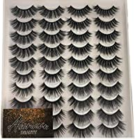 20 Pairs 3D Mink Lashes,ALICROWN 4 Styles Dramatic& Natural Look Mixed False Eyelashes High Volume Handmade Reusable...
