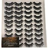 ALICROWN 20 Pairs False Eyelashes 4 Styles Natural Look Mixed High Volume Faux Mink Lashes