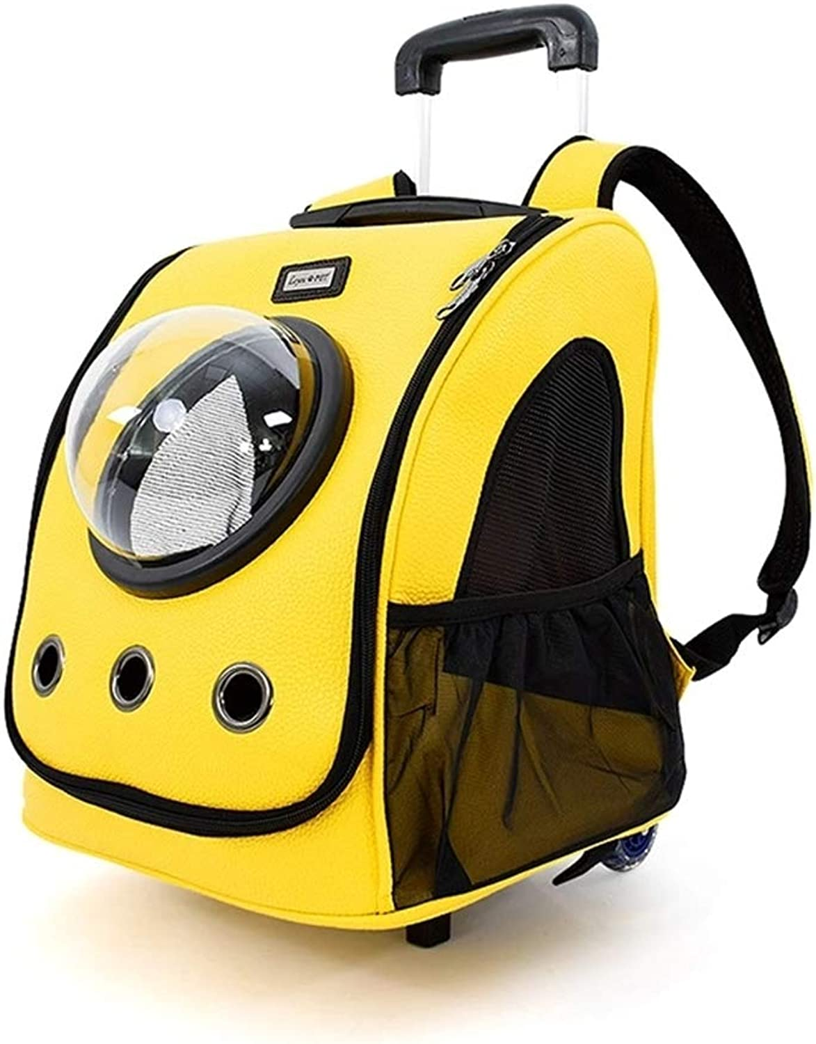 Pet Trolley Case Pets Carrier Travel Bag, Dog Travel Large Space Capsule Backpack Dual Use The Height of The Drawbar Can be Adjusted to 4787cm