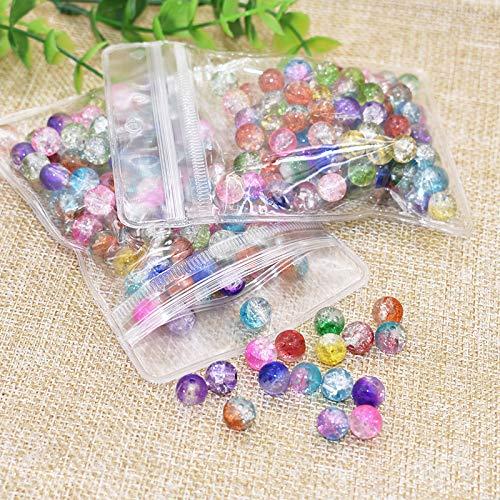 Perles en Cristal,200 Paquet 8mm Perles de Verre à Facettes Rondelle Perles en Verre pour La Fabrication de Bijoux Artisanat Bracelet Collier DIY