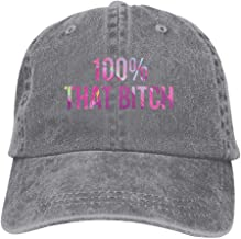 LGDSROJMXL Adult Adjustable Unisex Li-zzo Logo Washed Denim Hat Dad Baseball Cap